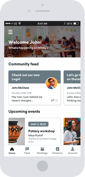 The app to keep your community engaged and collaborating